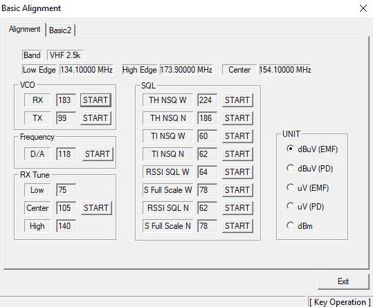 How to program Vertex VX-2100 - Basic Alignment