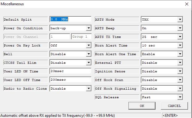 How to program Vertex VX-2100 - Miscellaneous