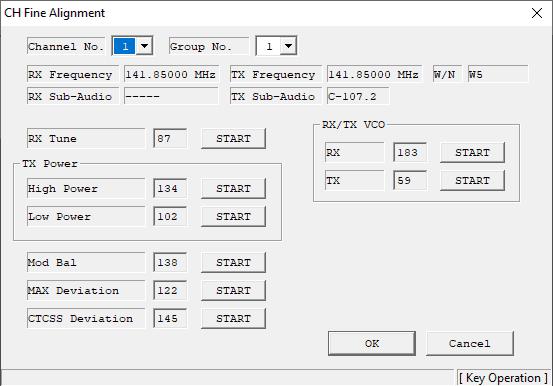 How to program Vertex VX-2100 - ch fine alignment