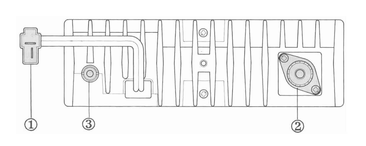 Vertex FTL-2011 specifications - rear panel
