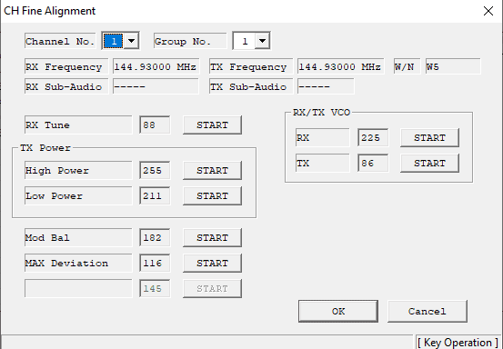 how to program vertex vx-2200 - channel fine alignment