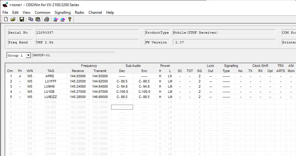 how to program vertex vx-2200 - configuration