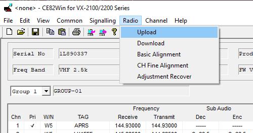 how to program vertex vx-2200 - read configuration